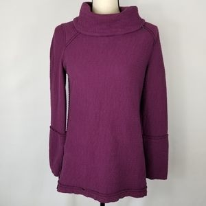 Soft Surroundings Funnel Neck Plum Tunic